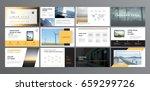 original presentation templates.... | Shutterstock .eps vector #659299726