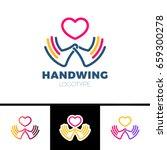 heart in hand symbol  sign ...   Shutterstock .eps vector #659300278