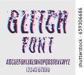 glitch font with distortion... | Shutterstock .eps vector #659306686