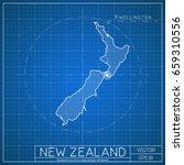 new zealand blueprint map... | Shutterstock .eps vector #659310556