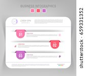 infographic template of three... | Shutterstock .eps vector #659331352