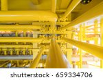 high pressure pipe line to... | Shutterstock . vector #659334706