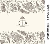 background with chia  cocktail... | Shutterstock .eps vector #659339236
