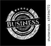 business chalk emblem | Shutterstock .eps vector #659346772