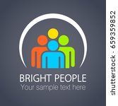 bright people in the circle....   Shutterstock .eps vector #659359852