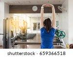 female fitness exercise concept ... | Shutterstock . vector #659366518