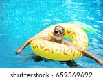 Senior Caucasian Man Floating...