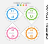 infographic four options ... | Shutterstock .eps vector #659370022