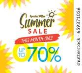 summer sale set v.4 70 percent... | Shutterstock .eps vector #659371036