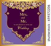 wedding invitation or card with ... | Shutterstock .eps vector #659372206