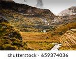 routeburn   through the valleys ...   Shutterstock . vector #659374036