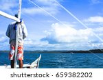 donsol  philippines   may 27...   Shutterstock . vector #659382202