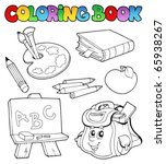 Coloring Book With School...