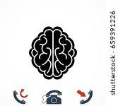 brain icon  vector eps 10... | Shutterstock .eps vector #659391226