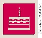birthday cake sign. vector.... | Shutterstock .eps vector #659393362