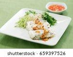 "vietnamese food "" banh cuon "" | Shutterstock . vector #659397526"