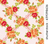 seamless floral pattern with... | Shutterstock .eps vector #659398636