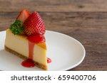new york style cheesecake on... | Shutterstock . vector #659400706