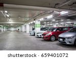 car in parking background in... | Shutterstock . vector #659401072