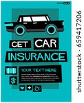 get car insurance poster in... | Shutterstock .eps vector #659417206