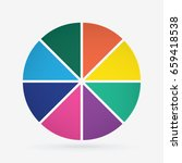 infographic template pie charts ...   Shutterstock .eps vector #659418538