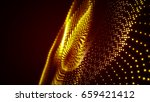 gold glitter particles... | Shutterstock . vector #659421412