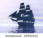 digital visualization of a ship | Shutterstock . vector #65942413