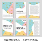 abstract vector layout... | Shutterstock .eps vector #659424586