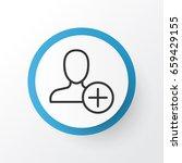 add icon symbol. premium... | Shutterstock .eps vector #659429155