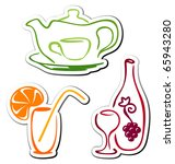 stylized drink icons | Shutterstock .eps vector #65943280