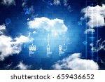 2d rendering cloud computing | Shutterstock . vector #659436652