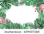 tropical exotic border frame... | Shutterstock .eps vector #659437285