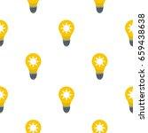 yellow light bulb with sun...   Shutterstock .eps vector #659438638
