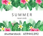 summer exotic and tropic... | Shutterstock .eps vector #659441392