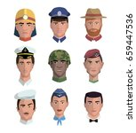 people and professions. colored ... | Shutterstock .eps vector #659447536