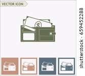 vector wallet for cards and... | Shutterstock .eps vector #659452288