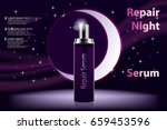 cosmetic moisturizing product.... | Shutterstock .eps vector #659453596