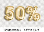 Stock photo  off discount promotion sale made of realistic d gold helium balloons with clipping path 659454175