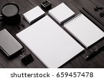 corporate identity template  ... | Shutterstock . vector #659457478