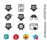 sale arrow tag icons. discount...