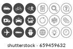 transport icons. car  bike  bus ... | Shutterstock .eps vector #659459632