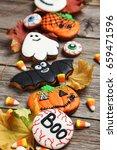 fresh halloween gingerbread... | Shutterstock . vector #659471596