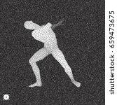 3d model of man. black and...   Shutterstock .eps vector #659473675