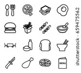 lunch icons set. set of 16... | Shutterstock .eps vector #659475562