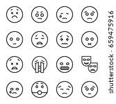 sad icons set. set of 16 sad... | Shutterstock .eps vector #659475916