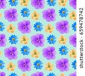 geranium  adonis  quince.... | Shutterstock . vector #659478742
