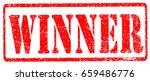 winner stamp on white...   Shutterstock . vector #659486776