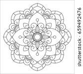 flower mandala vector... | Shutterstock .eps vector #659492476