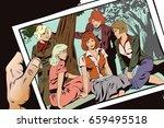 stock illustration. people in...   Shutterstock .eps vector #659495518