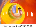 playground   female kids... | Shutterstock . vector #659496592